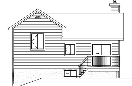 Ranch House Plan 49435 Rear Elevation