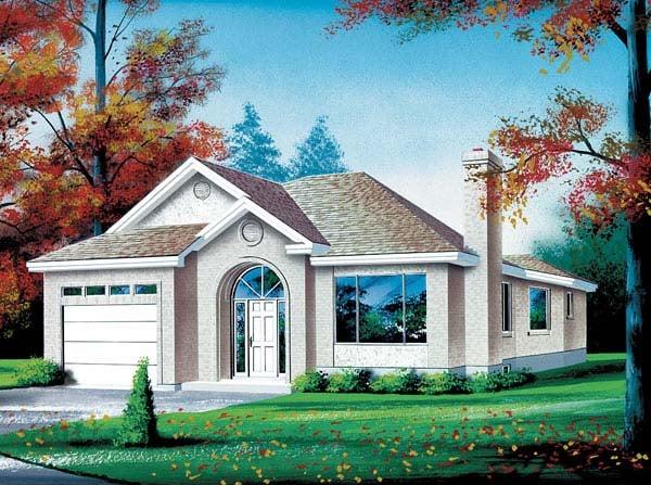 European House Plan 49436 Elevation