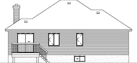 European House Plan 49436 Rear Elevation