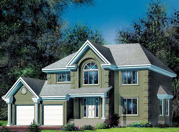 Colonial House Plan 49437 Elevation