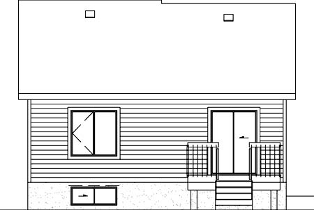 Ranch House Plan 49440 Rear Elevation