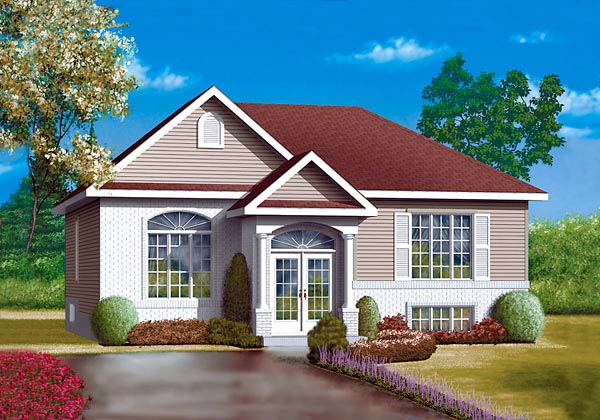 Colonial House Plan 49443 Elevation