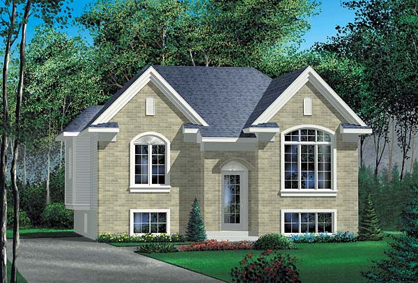 European House Plan 49444 Elevation