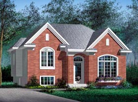 European House Plan 49445 Elevation