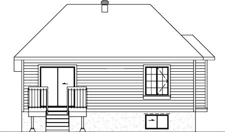 European House Plan 49445 Rear Elevation