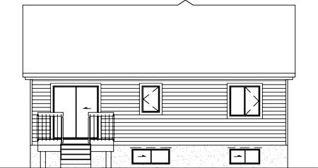 Ranch House Plan 49446 Rear Elevation
