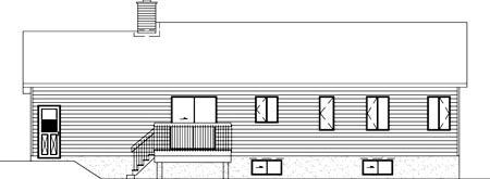 Ranch House Plan 49447 Rear Elevation