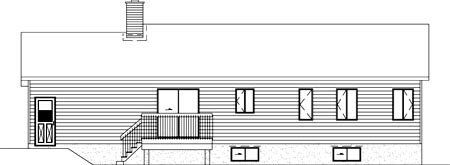 Ranch House Plan 49448 Rear Elevation