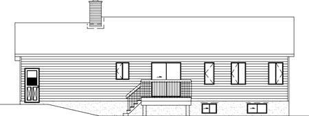 Ranch House Plan 49449 Rear Elevation