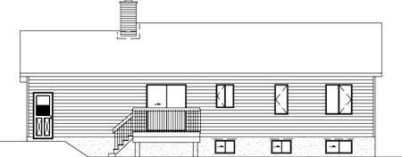 Ranch House Plan 49450 Rear Elevation