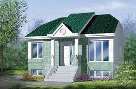 Contemporary House Plan 49455 Elevation
