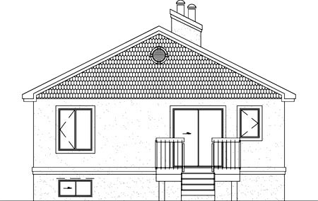Traditional House Plan 49456 Rear Elevation