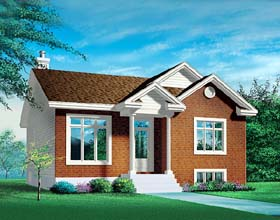 Ranch House Plan 49458 with 2 Beds, 1 Baths Elevation