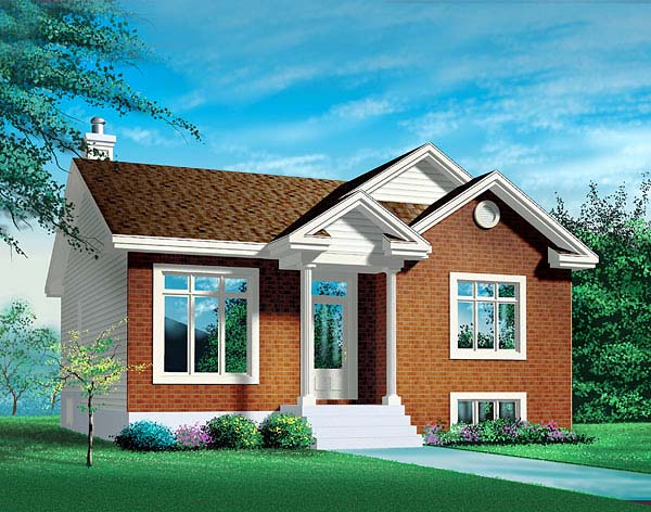 Ranch House Plan 49458 Elevation