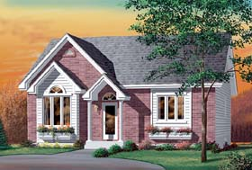 Colonial House Plan 49459 Elevation