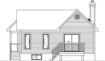 Victorian House Plan 49462 Rear Elevation