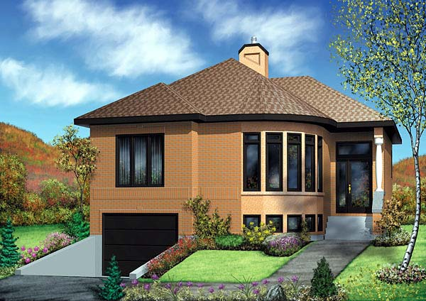 Contemporary House Plan 49464 Elevation