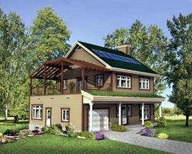 House Plan 49466 Elevation