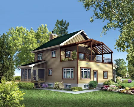 House Plan 49466 Rear Elevation