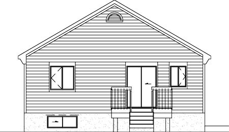 Traditional House Plan 49467 Rear Elevation