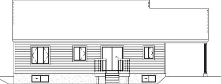 Victorian House Plan 49469 Rear Elevation