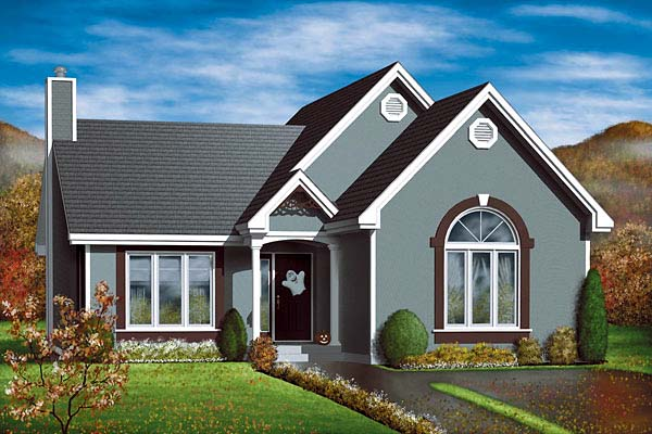 Traditional House Plan 49470 Elevation