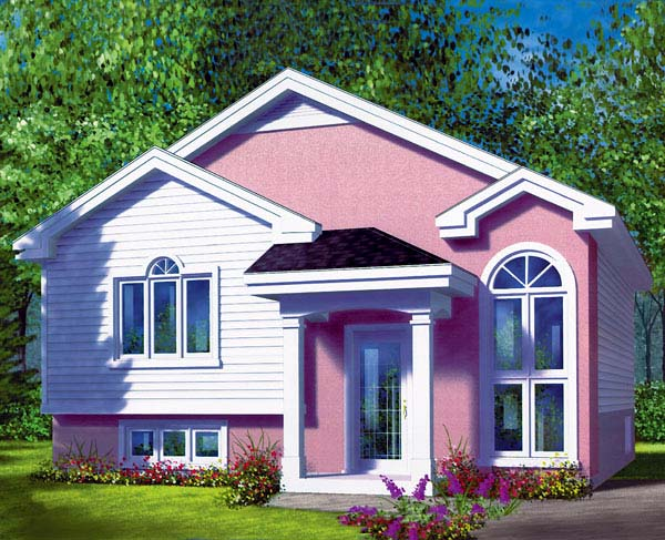 Narrow Lot, One-Story, Traditional House Plan 49472 with 2 Beds, 1 Baths Elevation