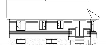 Traditional House Plan 49474 Rear Elevation