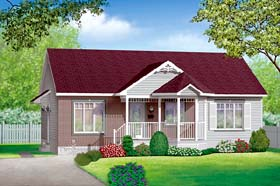 Ranch House Plan 49477 Elevation