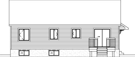 Ranch House Plan 49477 Rear Elevation