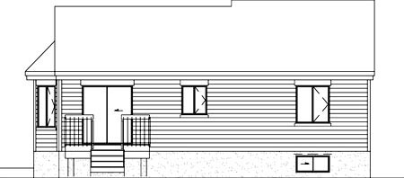 Ranch House Plan 49478 Rear Elevation