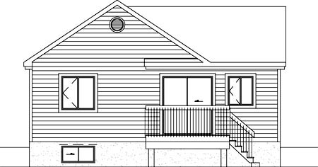 Ranch House Plan 49479 Rear Elevation