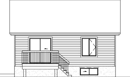 Victorian House Plan 49480 Rear Elevation