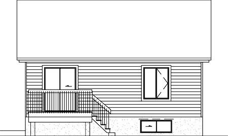 House Plan 49482 Rear Elevation