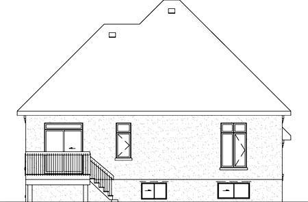 Victorian House Plan 49484 Rear Elevation