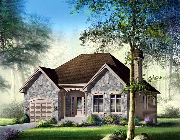 European House Plan 49486 Elevation