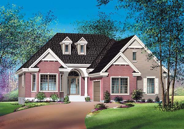Craftsman House Plan 49490 Elevation