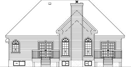 Craftsman House Plan 49490 Rear Elevation