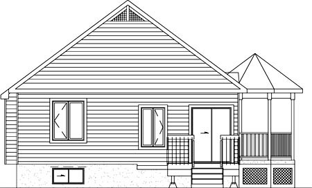 Southern House Plan 49492 Rear Elevation