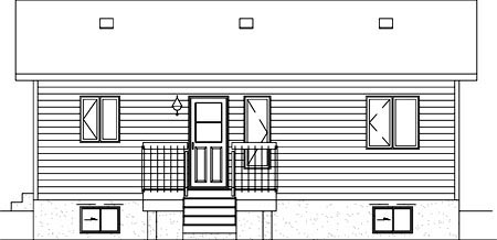 Ranch House Plan 49495 Rear Elevation