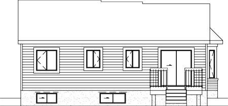 Ranch House Plan 49496 Rear Elevation