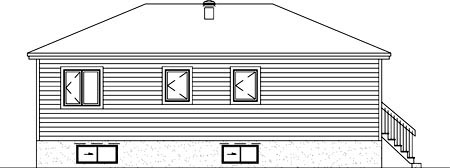 Ranch House Plan 49497 Rear Elevation