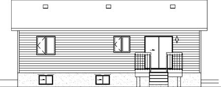 Ranch House Plan 49498 Rear Elevation