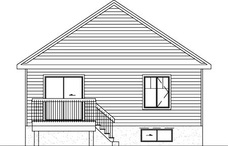 Traditional House Plan 49499 Rear Elevation