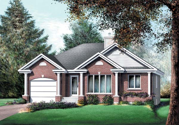 Traditional House Plan 49500 Elevation