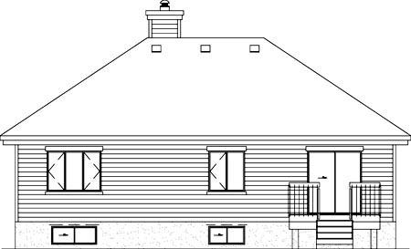 Traditional House Plan 49500 Rear Elevation