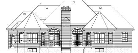 European House Plan 49501 Rear Elevation