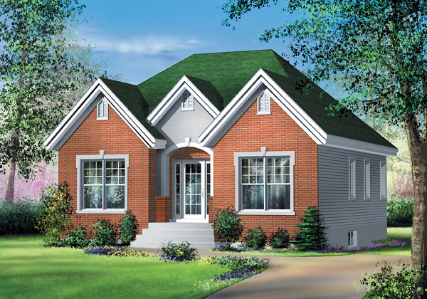 European House Plan 49503 Elevation