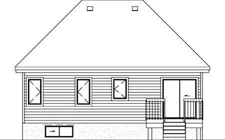 European House Plan 49503 Rear Elevation