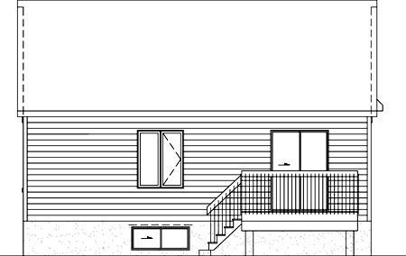 Craftsman House Plan 49504 Rear Elevation